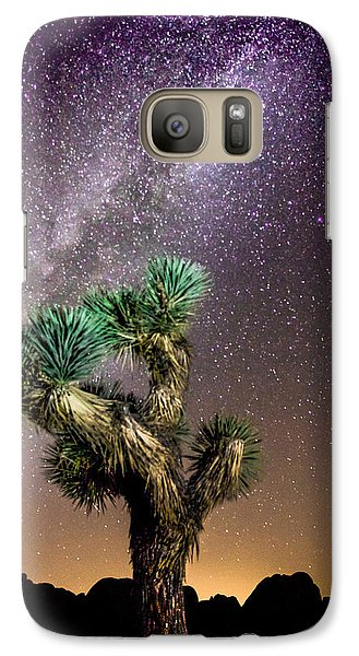 Galaxy Case featuring the photograph Joshua Tree Vs The Milky Way by Robert  Aycock