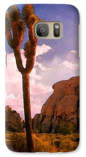 Galaxy Case featuring the photograph Joshua Trees 2 by Timothy Bulone