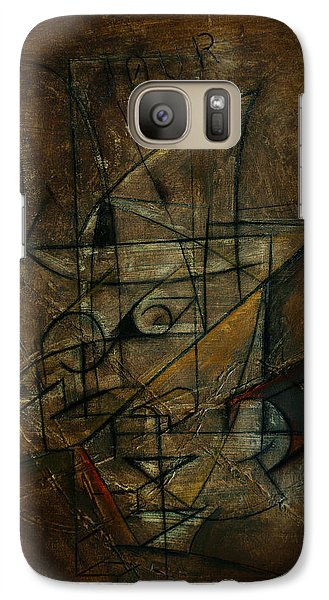 Galaxy Case featuring the painting Jour by Kim Gauge