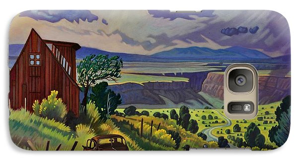 Galaxy Case featuring the painting Journey Along The Road To Infinity by Art James West