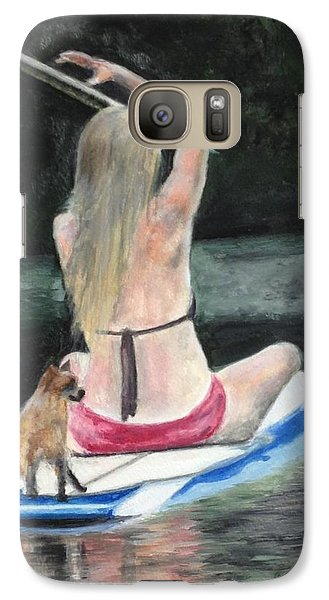 Galaxy Case featuring the painting Journey by Stan Tenney