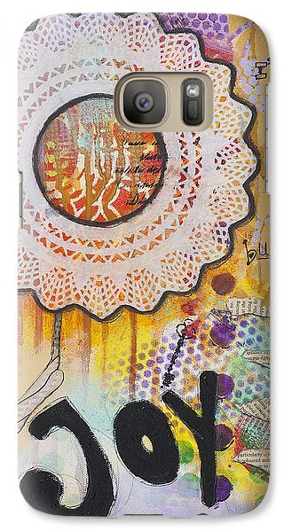 Galaxy Case featuring the mixed media Joy And Smile Cheerful Inspirational Art by Stanka Vukelic