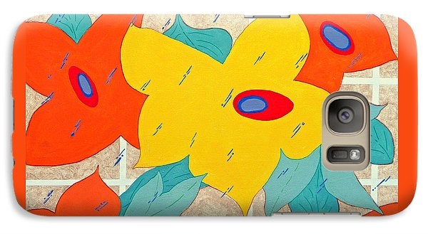 Galaxy Case featuring the painting Joy In The Rain by Jim Whalen