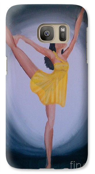 Galaxy Case featuring the painting Joy by Marisela Mungia