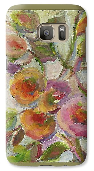 Galaxy Case featuring the painting Joy by Mary Wolf