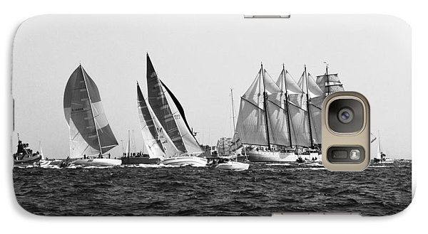 Galaxy Case featuring the photograph Juan Sebastian Elcano Departing The Port Of Cadiz by Pablo Avanzini