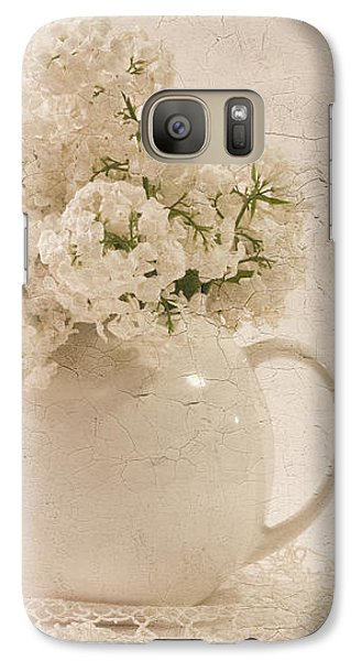 Galaxy Case featuring the photograph Jug Of White Lilacs by Sandra Foster