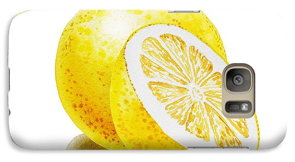 Galaxy Case featuring the painting Juicy Grapefruit by Irina Sztukowski