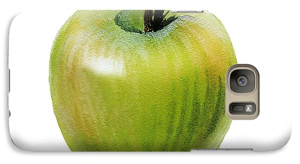 Galaxy Case featuring the painting Juicy Green Apple by Irina Sztukowski