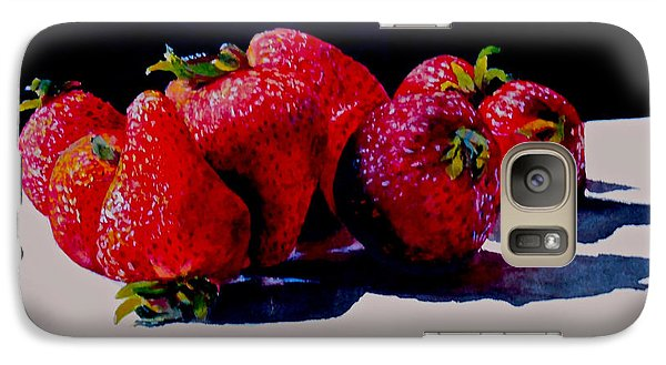 Galaxy Case featuring the painting Juicy Strawberries by Sher Nasser