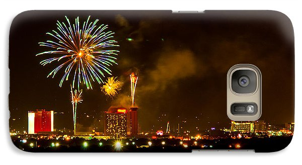 Galaxy Case featuring the photograph July 4th Sparks Nevada by Janis Knight