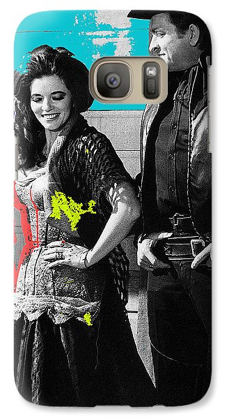 Galaxy Case featuring the photograph June Carter Cash Johnny Cash In Costume Old Tucson Az 1971-2008 by David Lee Guss