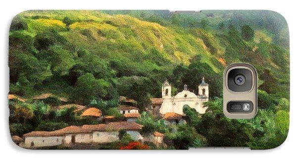 Galaxy Case featuring the digital art Jungle Church Honduras by Spyder Webb