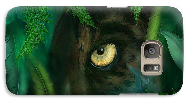 Jungle Eyes - Panther Galaxy S7 Case by Carol Cavalaris