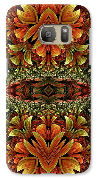 Galaxy Case featuring the digital art Jungle Love by Lea Wiggins