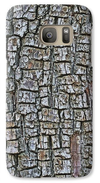 Galaxy Case featuring the photograph Juniper Bark- Texture Collection by Tom Janca