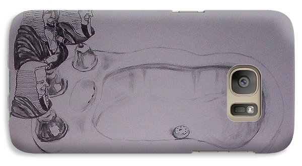 Galaxy Case featuring the drawing Jurisbidencia by Lazaro Hurtado