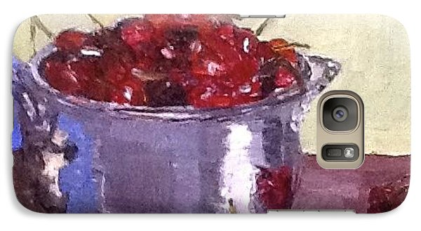 Galaxy Case featuring the painting Just A Bowl Of Cherries by MaryAnne Ardito