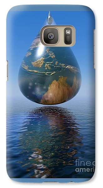 Galaxy Case featuring the digital art Just A Drop by Shadowlea Is