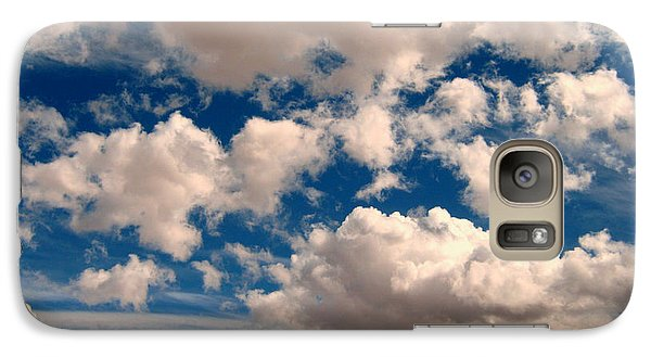 Galaxy Case featuring the photograph Just A Face In The Clouds by Janice Westerberg