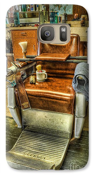 Galaxy Case featuring the photograph Just A Little Off The Top II - Barber Shop by Lee Dos Santos