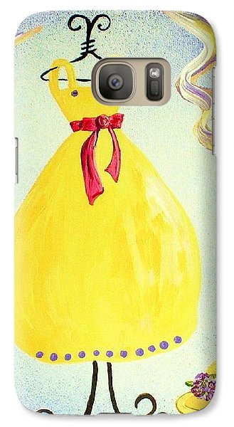 Galaxy Case featuring the painting Just A Simple Hat And Dress by Eloise Schneider