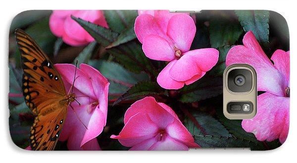 Galaxy Case featuring the photograph Just A Small Taste For This Butterfly by Thomas Woolworth