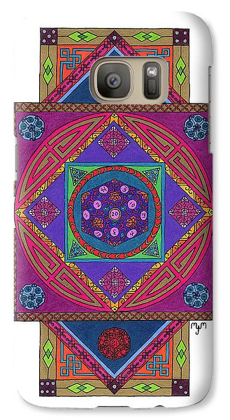 Galaxy Case featuring the drawing Just Another Roll Of The Dice by Mary J Winters-Meyer