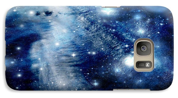 Galaxy Case featuring the digital art Just Beyond The Moon by Janice Westerberg