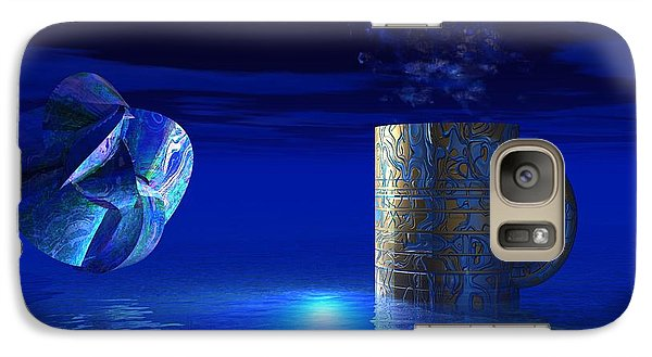 Galaxy Case featuring the digital art Just Blue by Jacqueline Lloyd