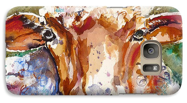 Galaxy Case featuring the mixed media Just Call Me Curly by P Maure Bausch