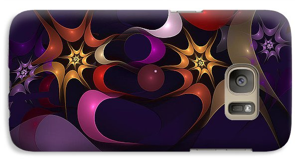 Galaxy Case featuring the digital art Just Clowning Around by Linda Whiteside
