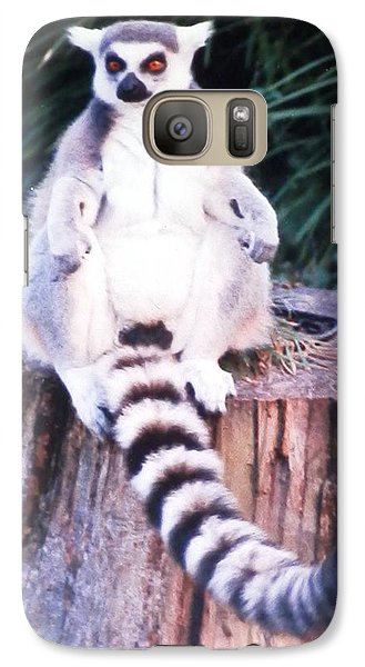 Galaxy Case featuring the photograph Handsome Lemur Just Hanging Out by Belinda Lee