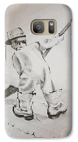 Galaxy Case featuring the drawing Just Like Dad by Joyce Gebauer