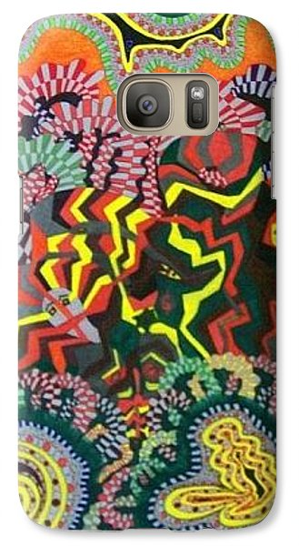 Galaxy Case featuring the painting Just Look Two by Jonathon Hansen