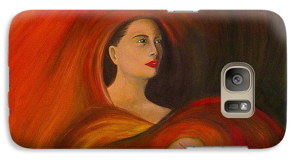 Galaxy Case featuring the painting ..just  Love.. by Fanny Diaz