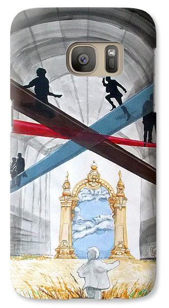 Galaxy Case featuring the painting Just Paths  by Lazaro Hurtado