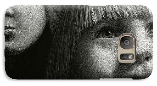 Galaxy Case featuring the drawing Just Playing by Sandra LaFaut
