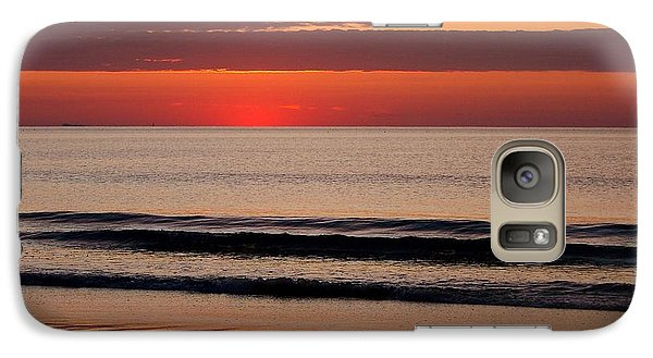 Galaxy Case featuring the photograph Just Showing Up Along Hampton Beach by Eunice Miller