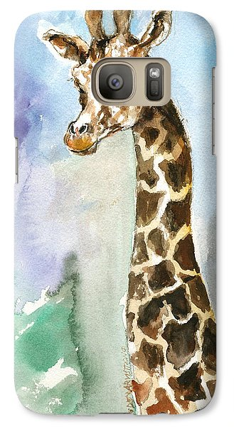Galaxy Case featuring the painting Just So Tall by Mary Armstrong