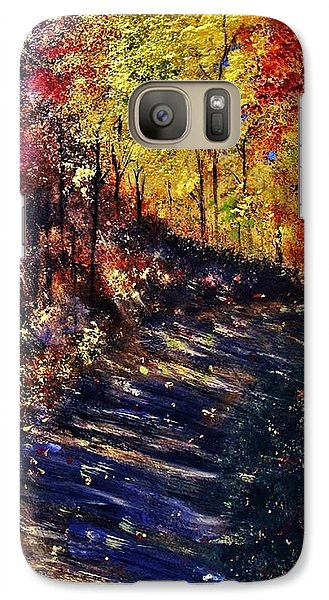 Galaxy Case featuring the painting Just The Sound Of The Forest... by Cristina Mihailescu