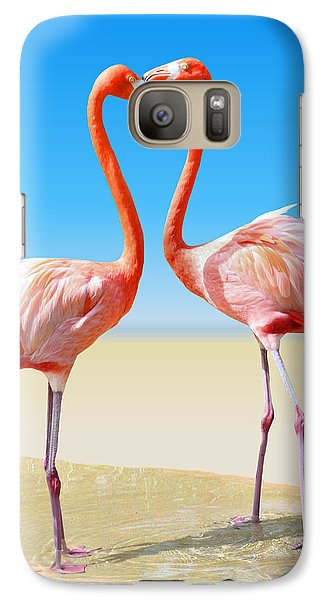 Flamingo Galaxy S7 Case - Just We Two by Kristin Elmquist