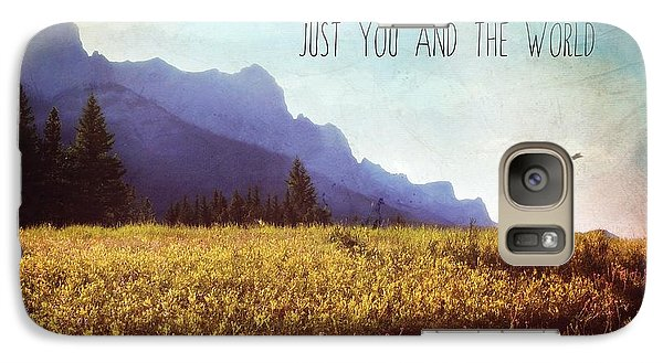 Galaxy Case featuring the photograph Just You And The World by Sylvia Cook
