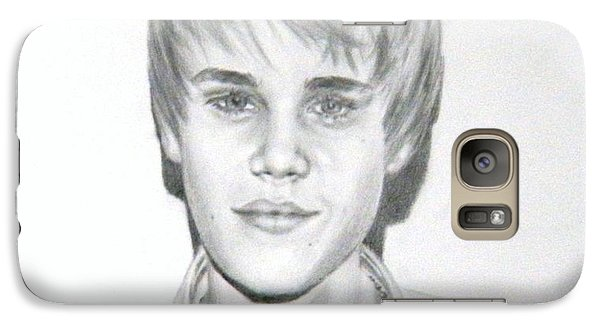 Galaxy Case featuring the drawing Justin Bieber by Lori Ippolito