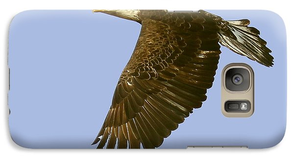 Galaxy Case featuring the photograph Juvenile Eagle Flight by Myrna Bradshaw