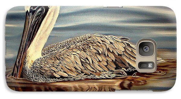 Galaxy Case featuring the painting Juvenile Pelican by Phyllis Beiser