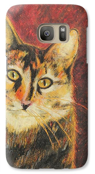 Galaxy Case featuring the painting Kaco by Jeanne Fischer