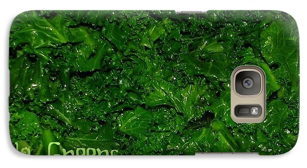 Galaxy Case featuring the photograph Kale Greens by Cleaster Cotton copyright