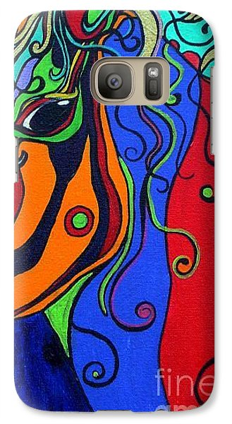 Galaxy Case featuring the painting Kaleidoscope Eyes by Alison Caltrider