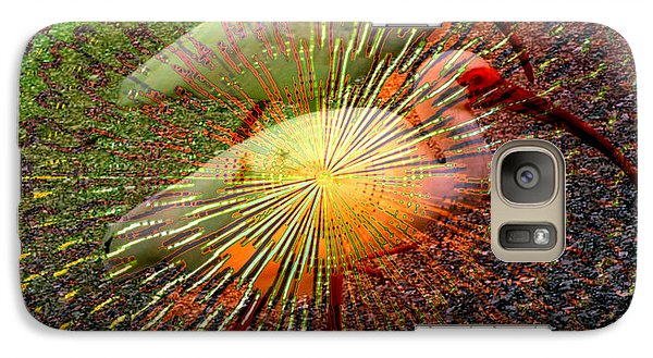 Galaxy Case featuring the digital art Kalidescope Of Ibis by Irma BACKELANT GALLERIES